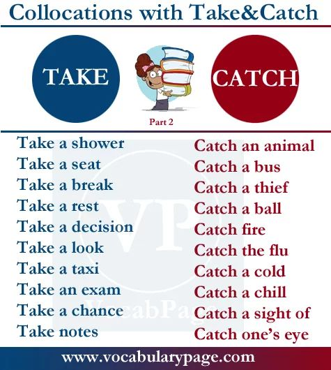 Collocations with TAKE & CATCH #learnenglish