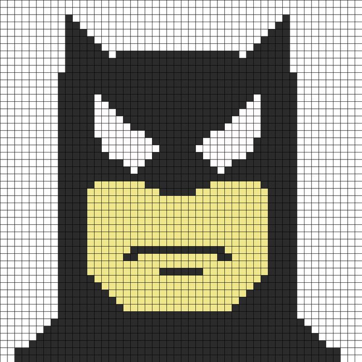 Batman face perler bead PATTERN