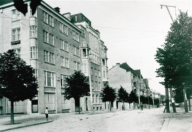 Finland, 1920s, Tampere street view.