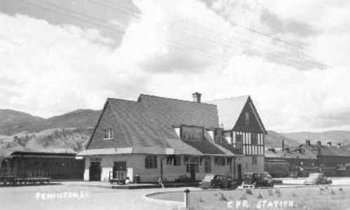 Kettle Valley Railroad Station, Summerland BC 1945.