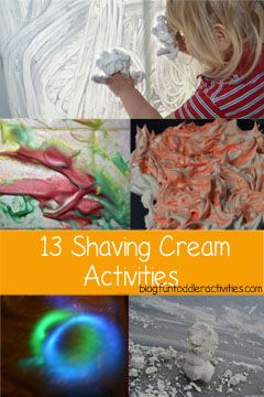 Fun Toddler Activities Blog: 13 Ways to Play with Shaving Cream