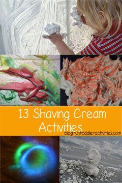 Fun Toddler Activities Blog: 13 Ways to Play with Shaving Cream