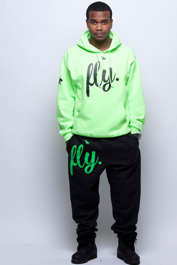 FLY. Comfort Outfit: Lime Green/Black (UNISEX FIT)m