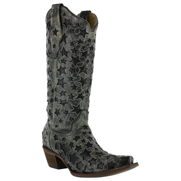 Corral Women's Star Inlay Snip Toe Western Boots
