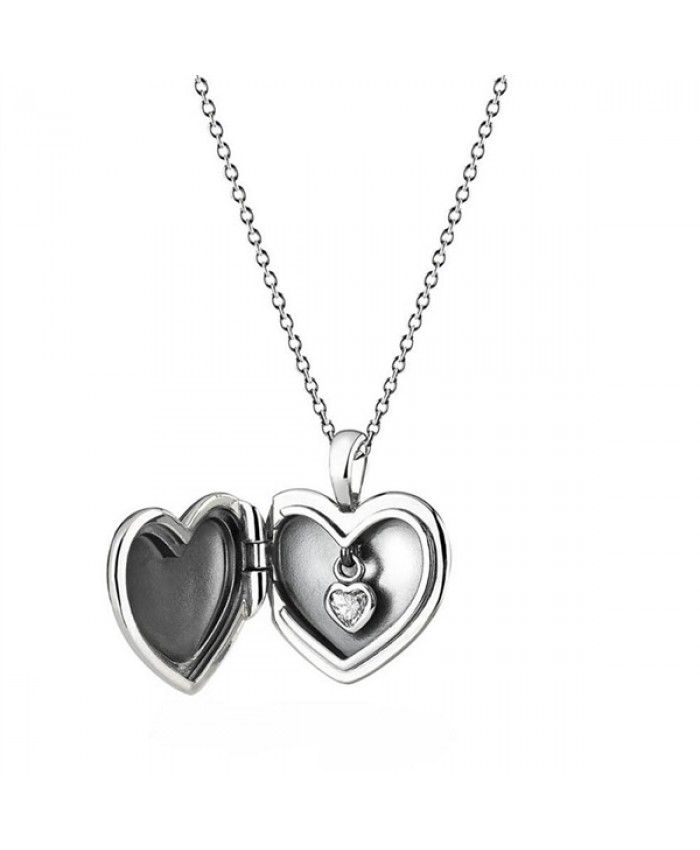a19ba7937 Pandora Love Locket Necklace in sterling silver | necklace | Pandora ...