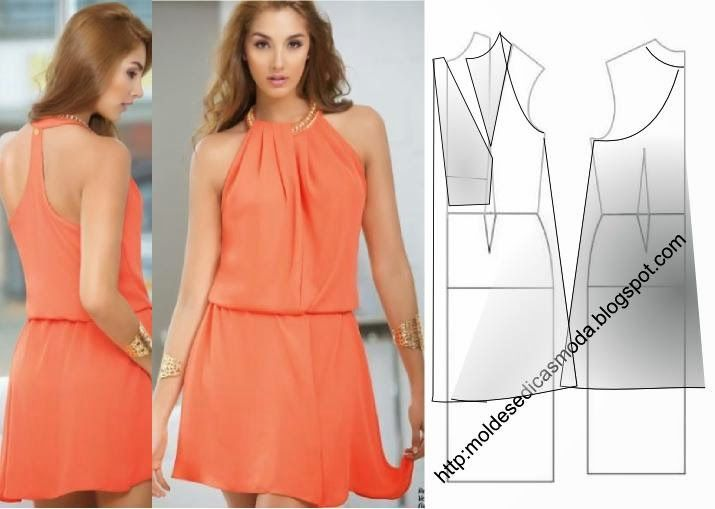 PROCESSING (TRANSFORMATION), VESTIDO_112. Once you have done your basic template dress is easy to make any of these beautiful and elegant models.