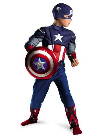 Captain America Avengers Classic Muscle Child Costume $30