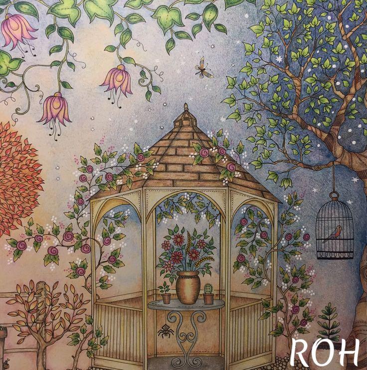 Gel Pens Colouring Coloring Books Secret Gardens Free Kids Pages Garden Vintage Book