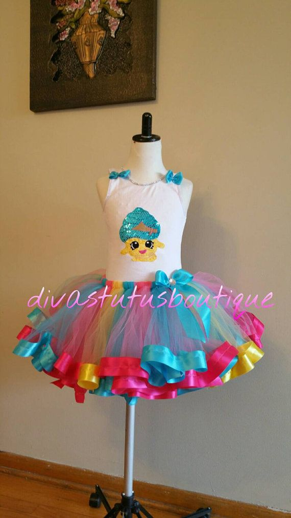Shopkins tutu set , cupcake queen tutu set/ shopkins birthday tutu set/shopkins birthday outfit, tutu dress/shopkins  personalized shirt.