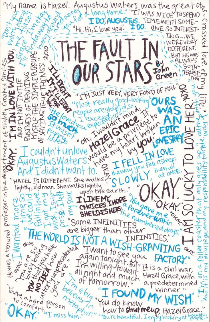 The Fault in our stars quotes collage. an absolutely amazing book!