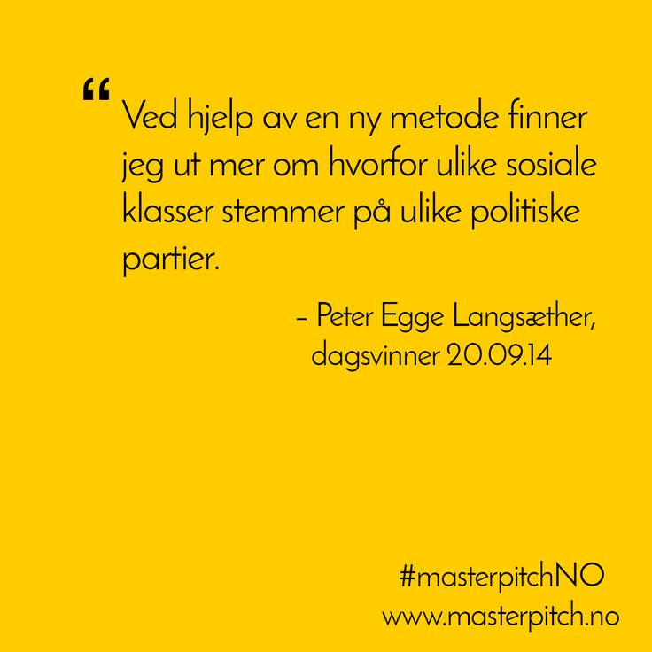 #dagenspitch 20.09! Gratulerer Peter Egge Langsæther