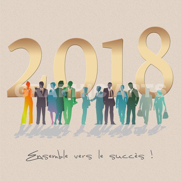 image carte de voeux Cartes de voeux 2018 pour les entreprises et collectivités. Plus