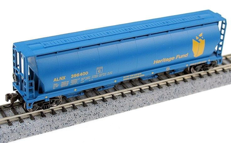 Bachmann N 19189 4-Bay Cylindrical Hopper, Heritage Fund #396400