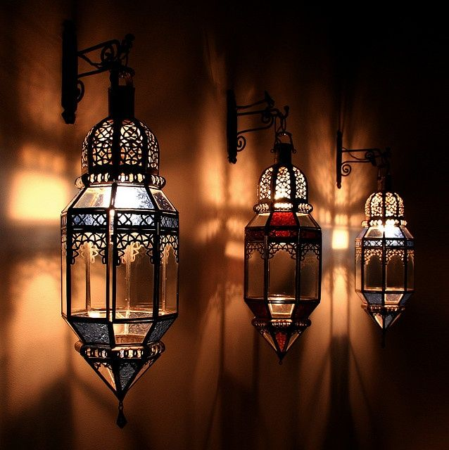 Charming Moroccan Lighting: Inspiration For The Chalk Art.