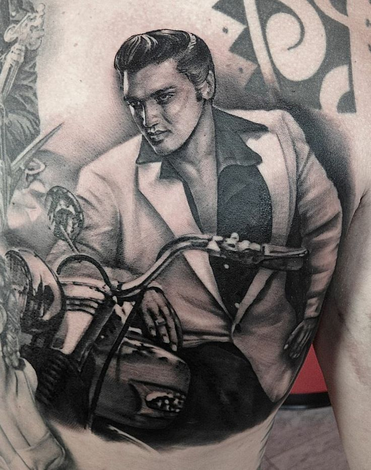 Tattoo by Matteo Pasqualin... Elvis is going to be one of my soon to be tattoos- of coarse:)