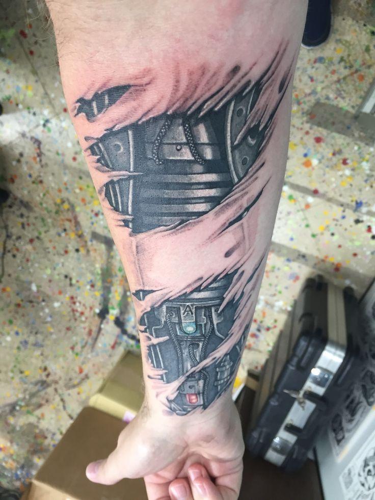 Mechanical arm Tattoo  Forearm Tattoo Robotic Arm