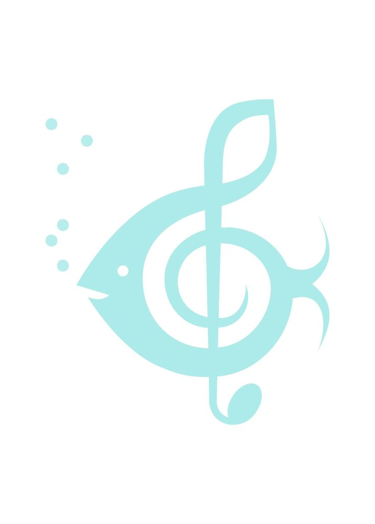 """our wedding """"logo"""" - fish/music note"""
