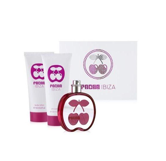 €13,13 Lote Pacha Ibiza Woman Eau De Toilette vaporizador 80 ml + Loción Corporal 100 ml + gel De Ducha 100 ml