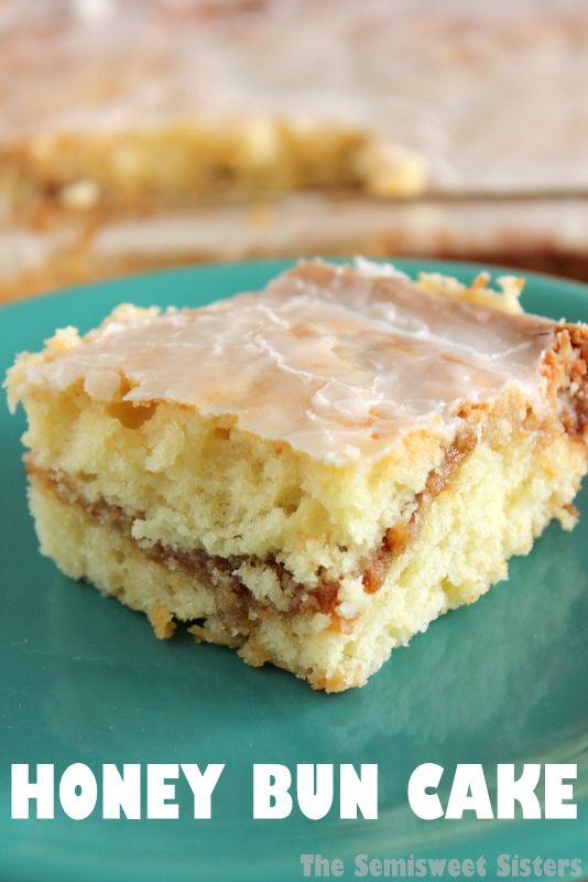 Honey Bun Cake Made 100% from Scratch (no cake mix). Tastes like a cinnamon roll in cake form! So delicious!