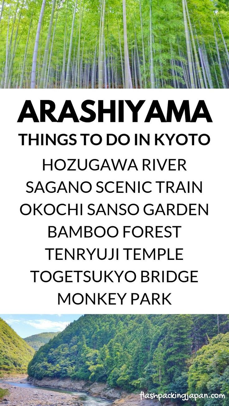 Travel Kyoto Japan. List of best things to do in Arashiyama Sagano in one day Ky…