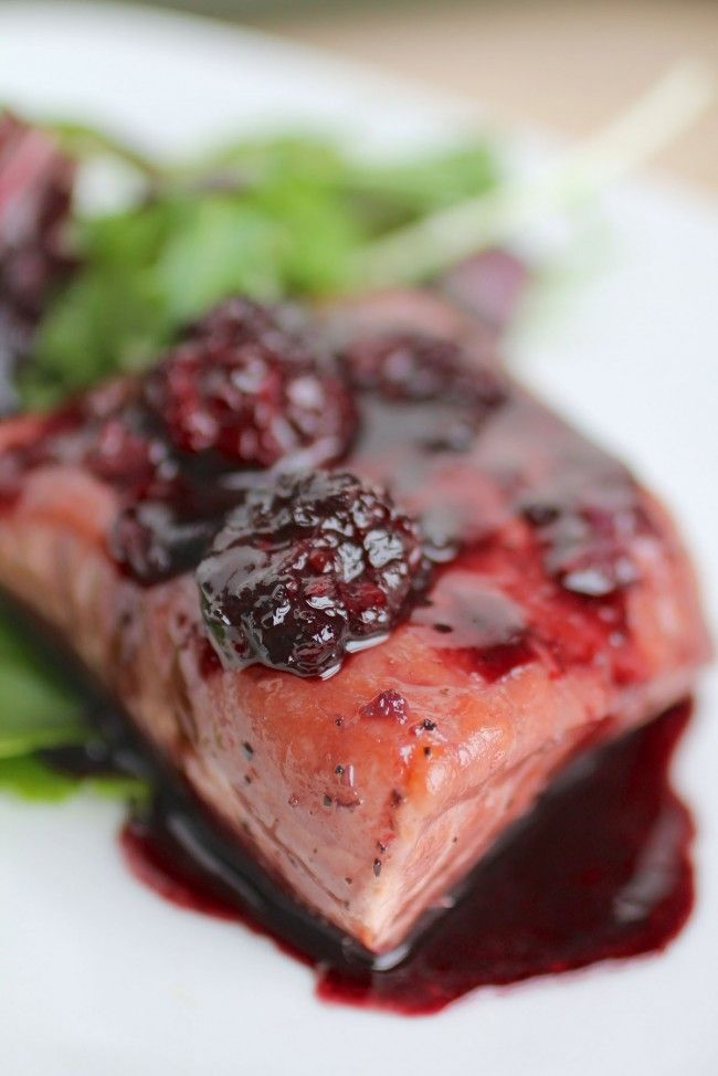 Blackberry Glazed Salmon|LifeAsAStrawberry - this sounds so good and so simple! I think bf would love it