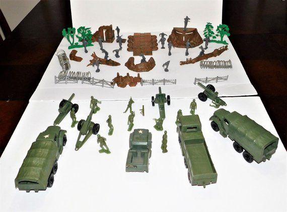 Set of 24 Handmade Toy Soldier Sandbags Action Figure Model Accessories