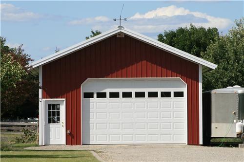 Steel Garages | Small Metal Garage Building with Shop