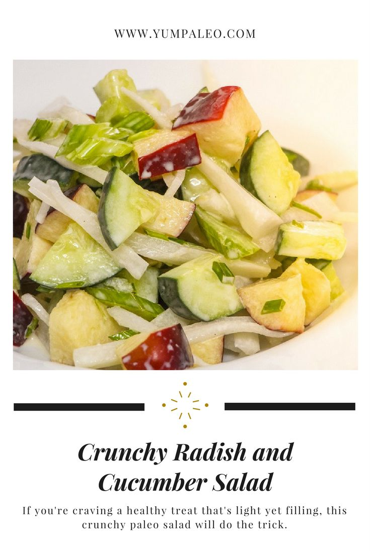 #yumpaleo #healthy #delicious #happytummy #healthyfood #healthyeating #healthylifestyle #healthyliving #happyhormones #foodporn #radishandcucumbersalad #recipes