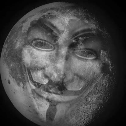 Anonymous moon   Anonymous ART of Revolution