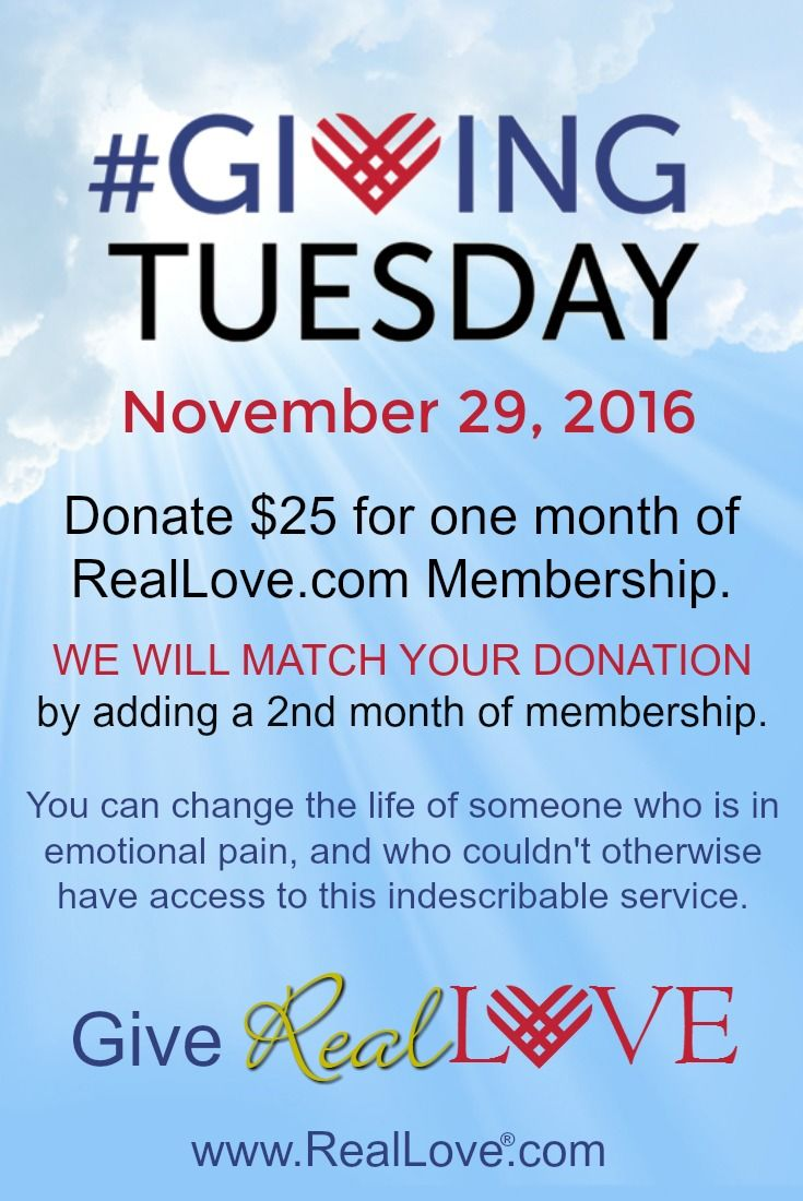 This #GivingTuesday give Real Love and change the life of someone in need here.