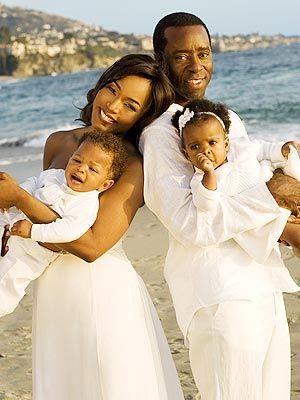 Courtney Vance & wife, Angela Bassett and their twins: Slater Josiah and Bronwyn Golden were born January 27, 2006.