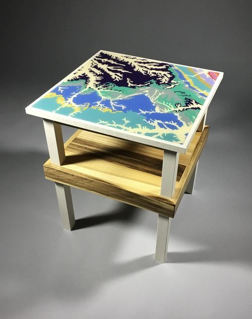 HUXLEY BI LEVEL SIDE TABLE DINOSAUR TO RANGELY