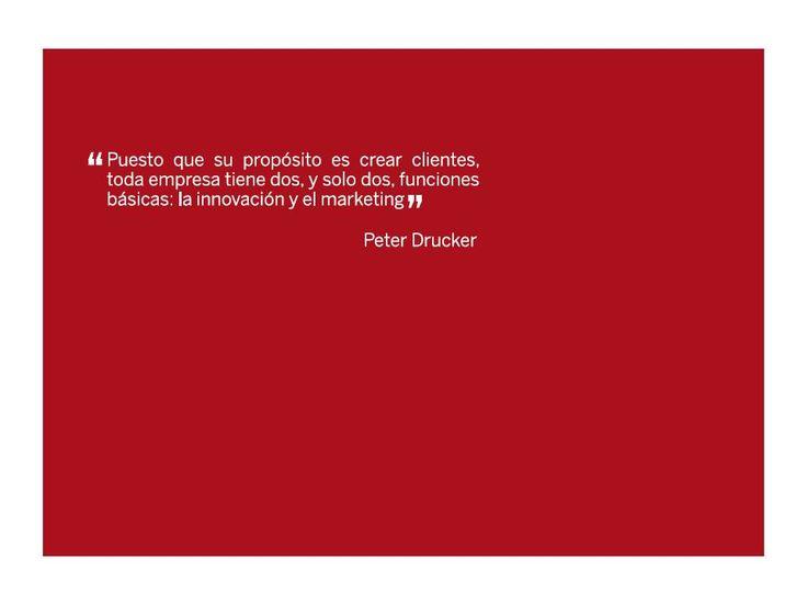 Frase de Peter Drucker donde resalta las funciones básicas de una empresa