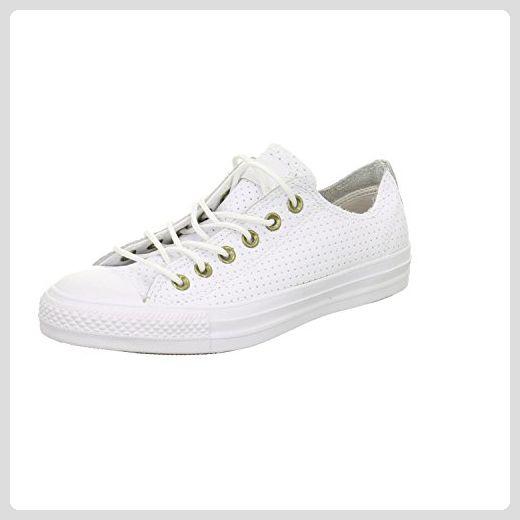 Converse Unisex – Erwachsene Chuck Taylor All Star Ox Sneaker, Weiß, 41 EU - Sneakers für frauen (*Partner-Link)