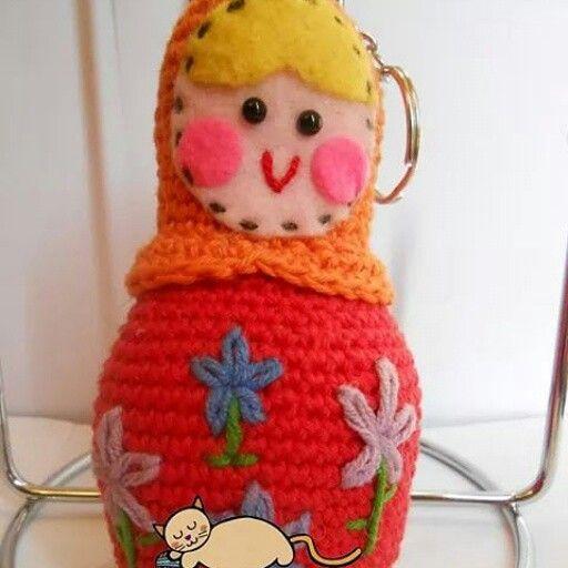 #matrioska #muñecarusa #crochet #amigurumi #knitting #hechoamano #chile #llavero #handmade