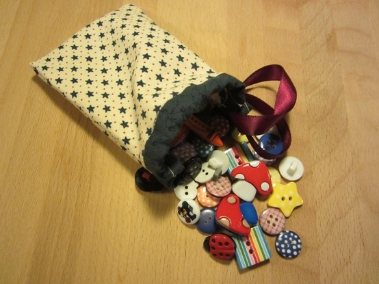 A Button Bag - A birthday present for a crafty friend.