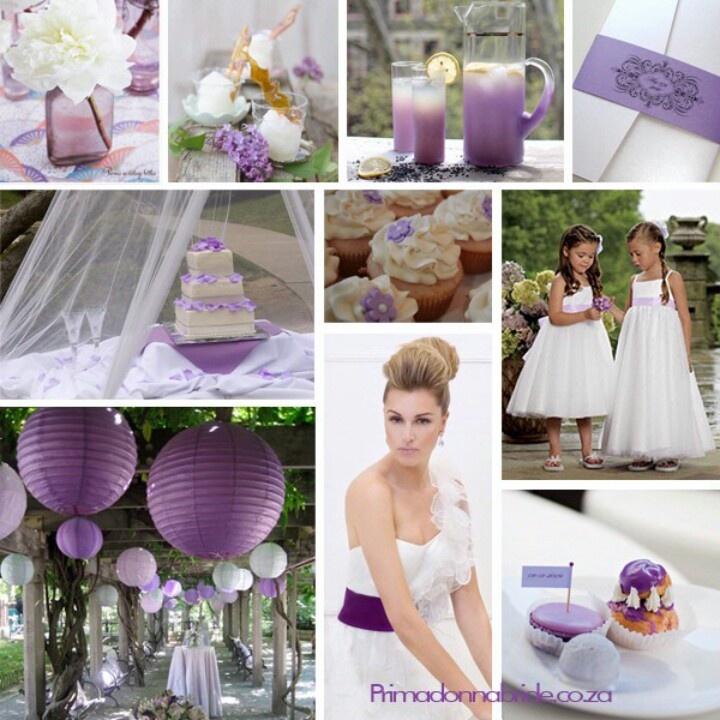 purple, gray and white