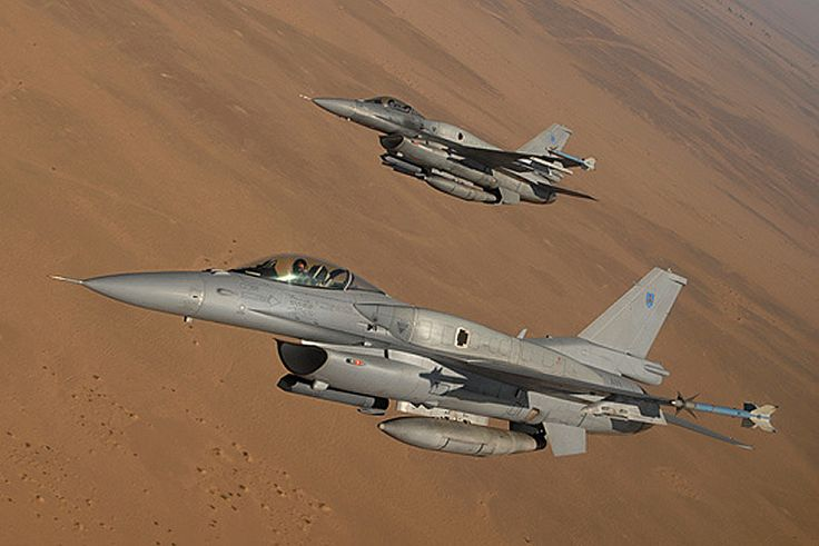 Royal Air Force of Oman F-16 Fighting Falcons.