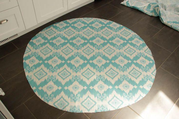 How to recover a Papasan Chair cushion - DIY Papasan Chair Cover tutorial at thehappyhousie.com-5