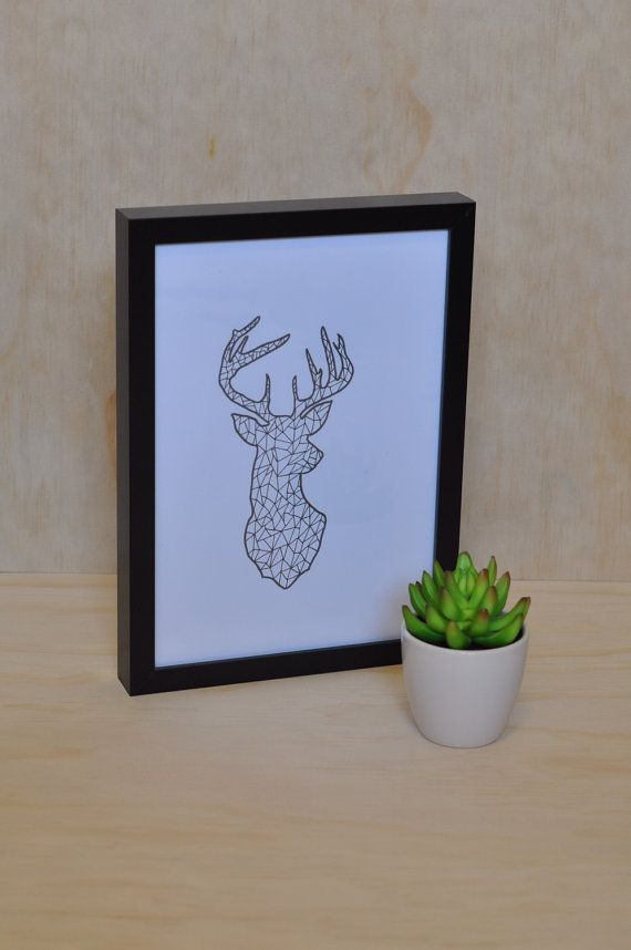 Deer Print  Design by WallJoyXO on Etsy