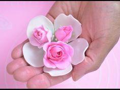 Ideas para el Día de la Madre: Rosa de fondant - YouTube