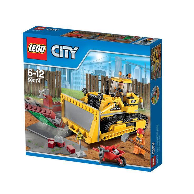 Sej stor bulldozer fra serien Lego City. Når nedrivningsarbejdet er i gang skal der stærke kræfter til. Denne seje bulldozer har kæmpestort dozerblad der er bev