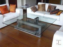 Mesa de centro moderna / de cristal / de hierro / de metal lacado