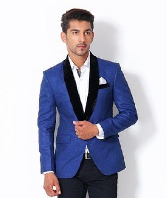 0392b61586d Mens Blue Designer Blue Jacket Sports Coat Wedding Blazer Full Tuxedo-B01   fashion  clothing  shoes  accessories  mensclothing  suitssuitseparates ( ebay ...