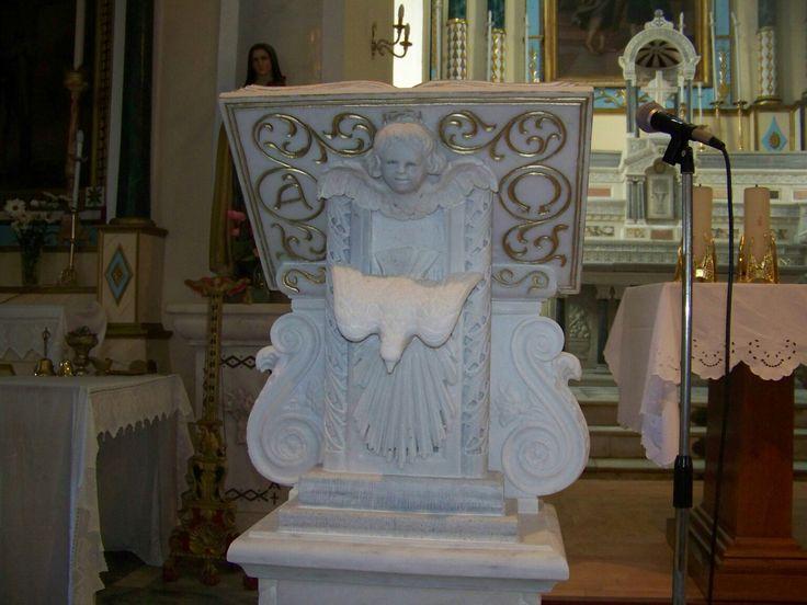 Μαρμάρινο αναλόγιο Handmade marble lectern made by Iosif Armaos