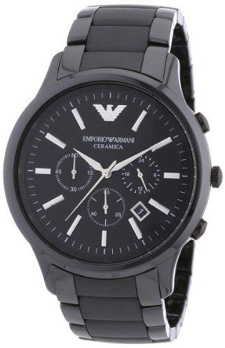 Emporio Armani Herren-Armbanduhr XL Chronograph Quarz Keramik AR1451 | Your #1 Source for Watches and Accessories