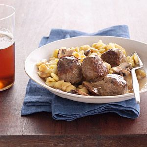 Austrian beef and pork meatballs and spaetzle