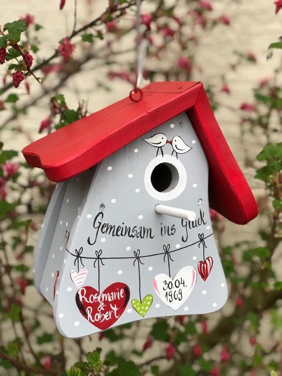 Wedding Gift Birdhouse, Bird villa Cash Gift, gift to wedding, customizable, gift for the Newlyweds, weatherproof