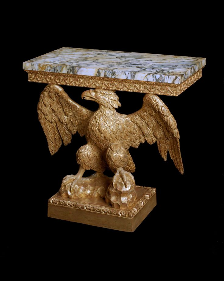 A George II Giltwood Eagle Console Table Attributed To Francis Brodie,  Scotlandu2026