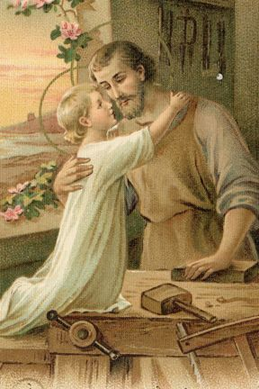 St. Joseph and the Child Jesus- I often wonder about the relationship between Jesus and His earthly father. This print is very precious.